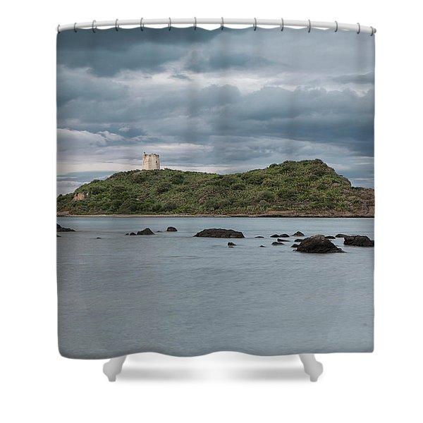 Small Island On The Sea Shower Curtain