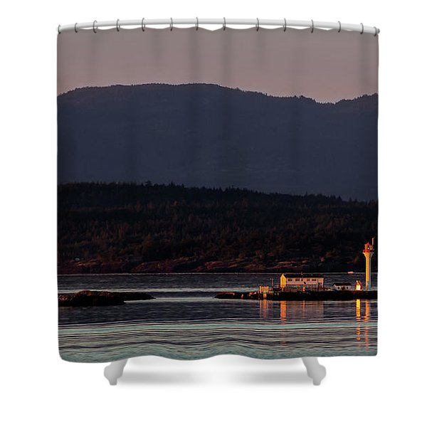 Isolated Lighthouse Shower Curtain