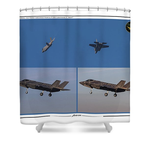 Israeli Air Force First Two F-35i Adir Shower Curtain