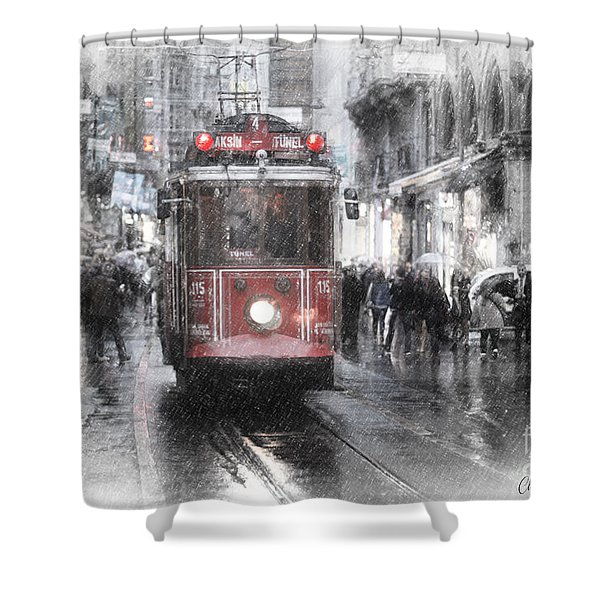 Istambool Historic Tram Shower Curtain