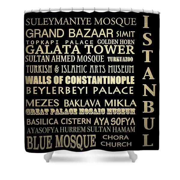 Istanbul Turkey Famous Landmarks Shower Curtain