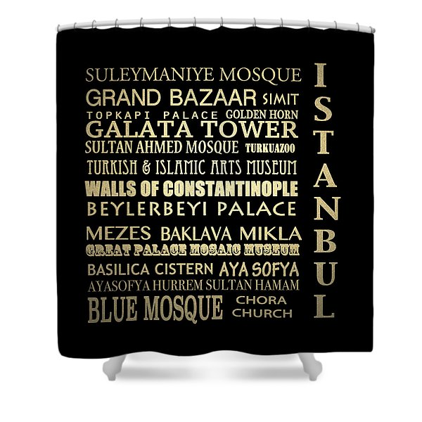 Istanbul Turkey Famous Landmarks Shower Curtain