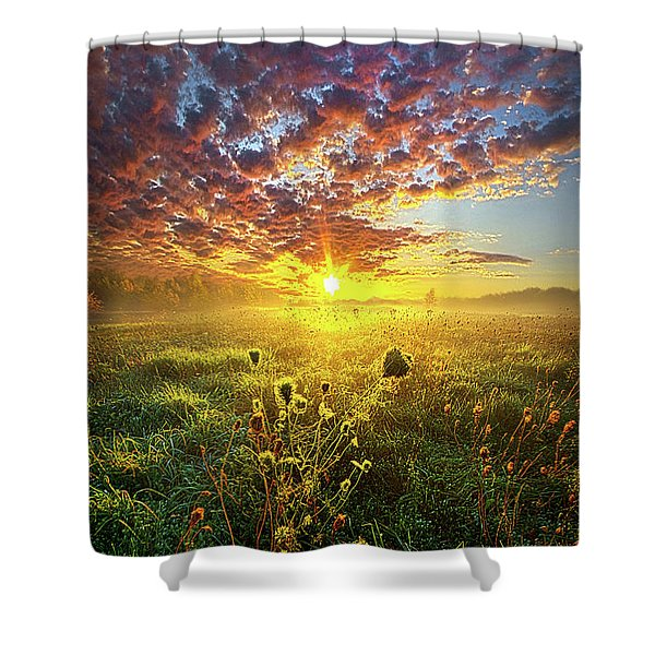 It Begins With A Word Shower Curtain
