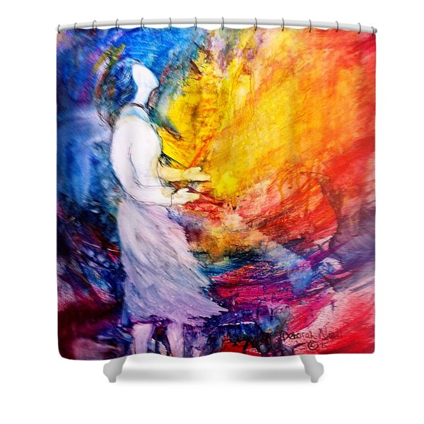 Shower Curtain featuring the painting It Is Well With My Soul by Deborah Nell