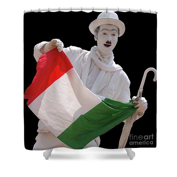 Italian Charlie Chaplin Shower Curtain