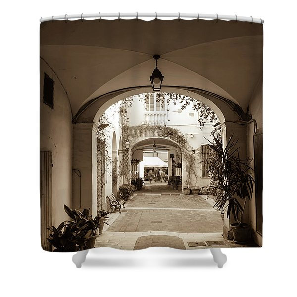 Italian Courtyard  Shower Curtain