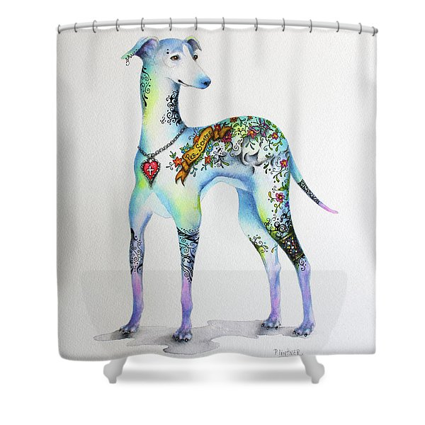Italian Greyhound Tattoo Dog Shower Curtain