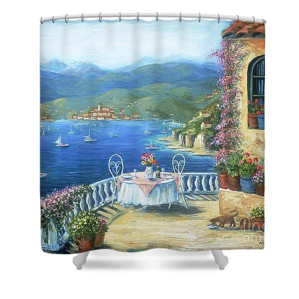 Italian Lunch On The Terrace Shower Curtain