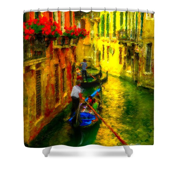 Italian Red Shower Curtain