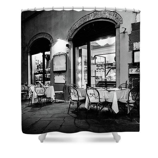 Italian Restaurant In Lucca, Italy Shower Curtain