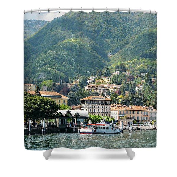 Italian Village On Lake Como Shower Curtain