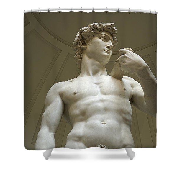 Italy, Florence, Statue Of David Shower Curtain