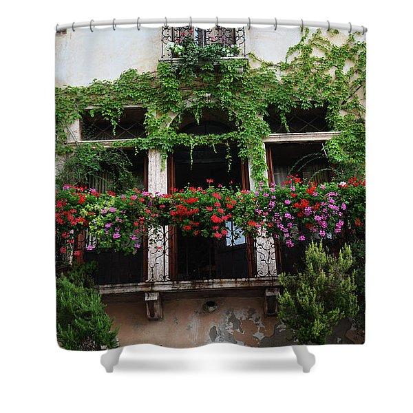 Italy Veneto Marostica Main Square Shower Curtain