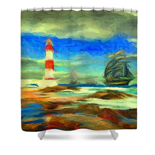 Itapua Lighthouse 1 Shower Curtain