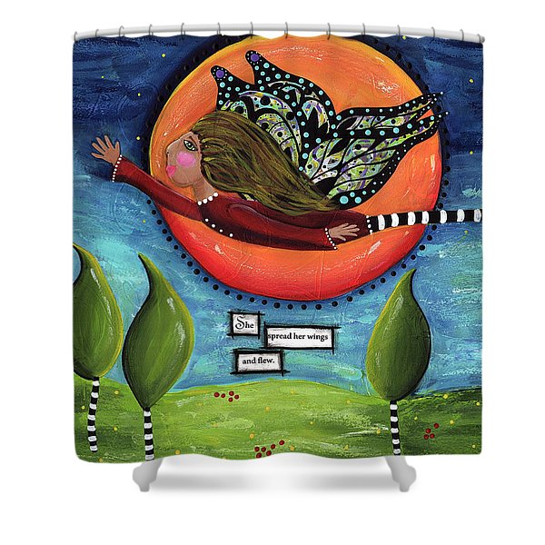 It's A Magical Whimsical Life Shower Curtain