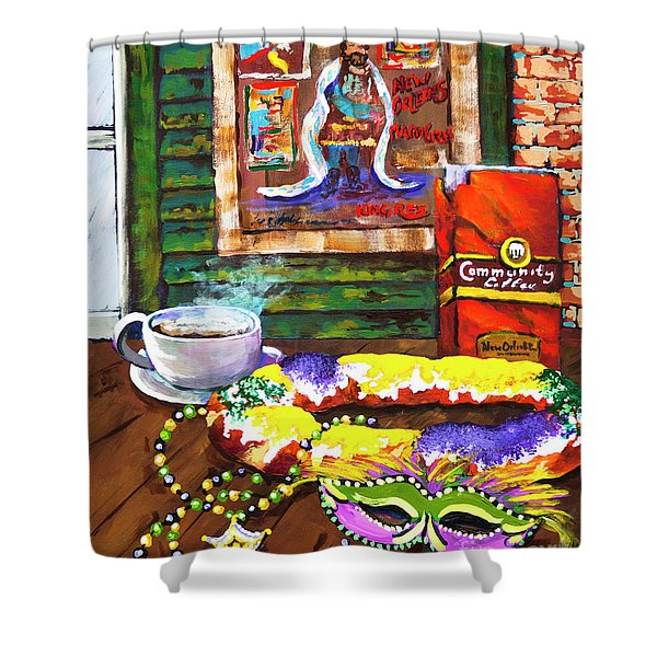 It's Mardi Gras Time Shower Curtain