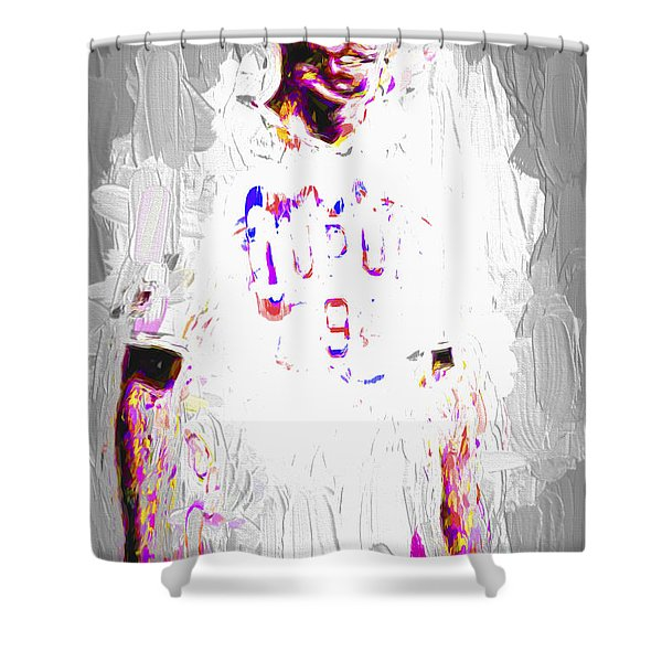 Iupui University Jaguars Soccer Athlete Pagaba Painted Shower Curtain