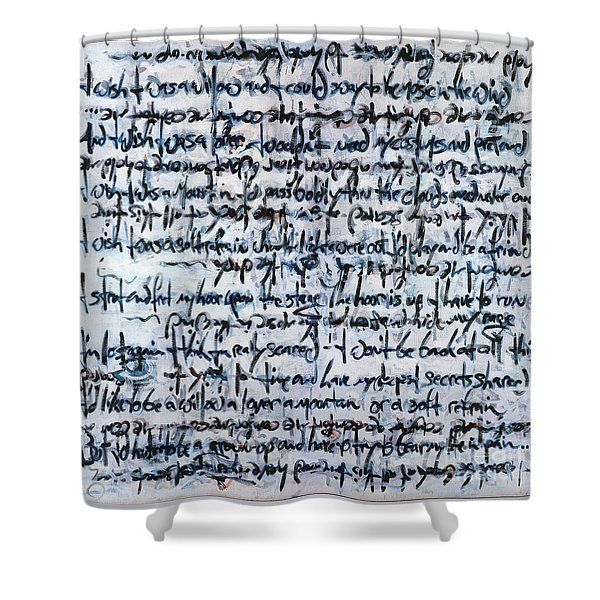 Ivory Tower Blues Shower Curtain