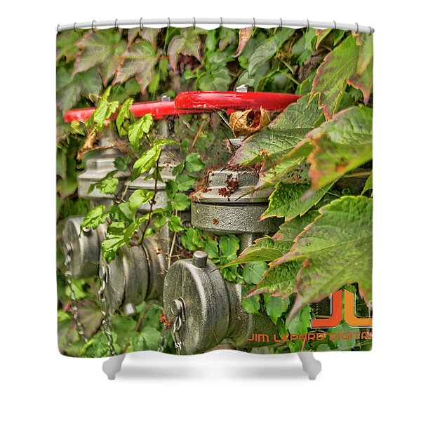Ivy Standpipe Shower Curtain