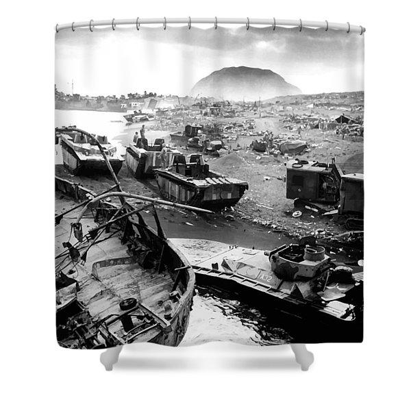 Iwo Jima Beach Shower Curtain