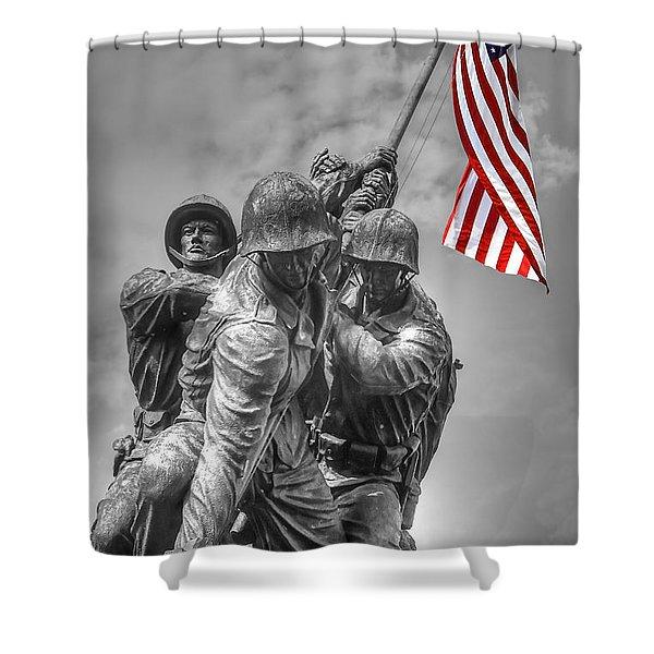 Iwo Jima Shower Curtain