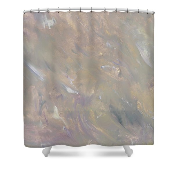 Before Light - Late Spring Gray Gold Flow Shower Curtain