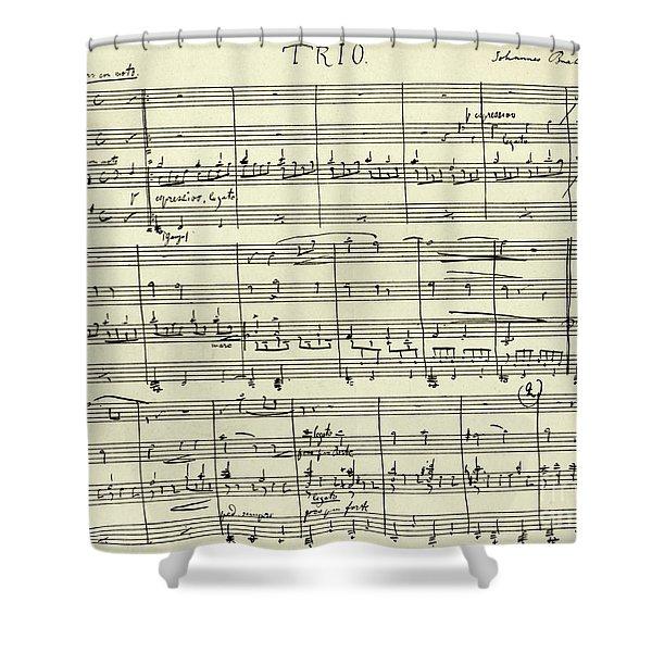 J Trio In Bb Major Shower Curtain