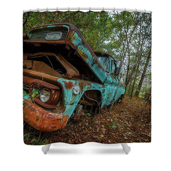 Jacked Up Gmc Shower Curtain