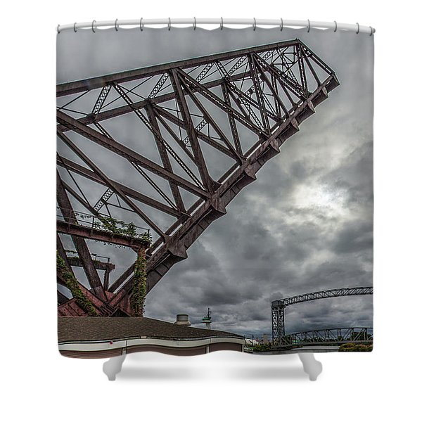 Jackknife Bridge To The Clouds Shower Curtain