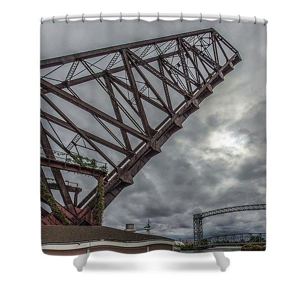 Jackknife Bridge To The Clouds Shower Curtain