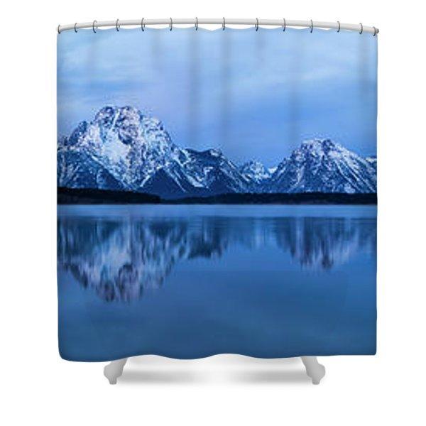 Jackson Lake Panorama Shower Curtain