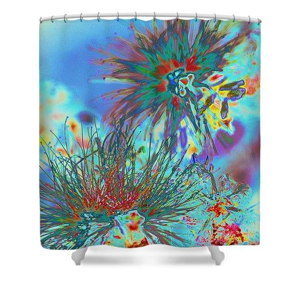 Jackson Pollok's Weeds  Shower Curtain