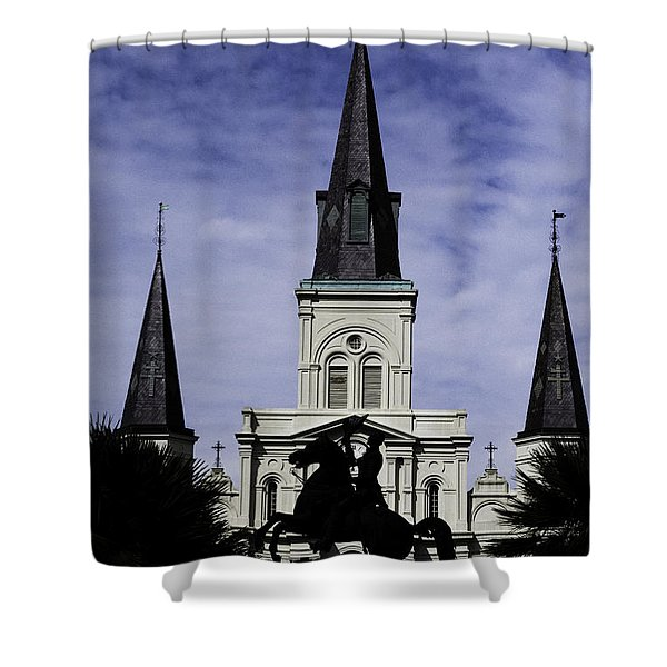 Jackson Square - Color Shower Curtain