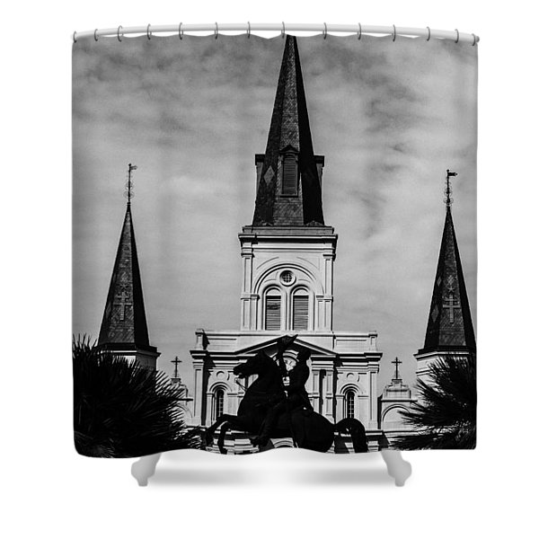 Jackson Square - Monochrome Shower Curtain