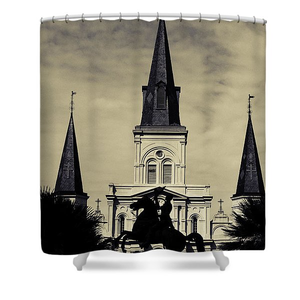 Jackson Square - Split Tone Shower Curtain