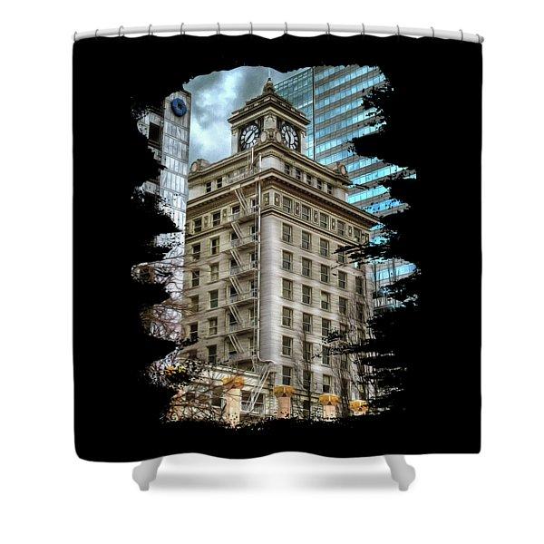Jackson Tower Portland Oregon Shower Curtain