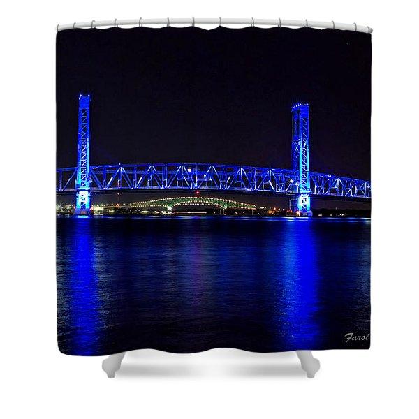 Jacksonville's Blue Bridge Shower Curtain