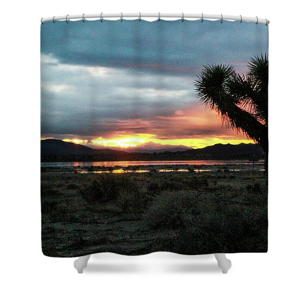 Jacob Tree Sunset - El Mirage Shower Curtain