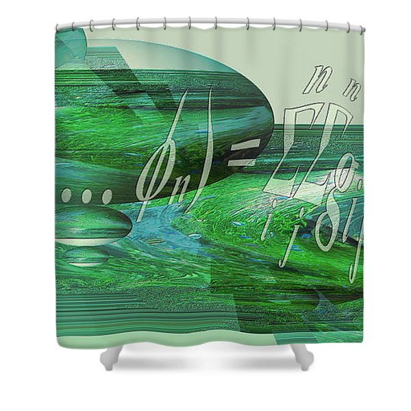 Shower Curtain featuring the photograph Jade Enigma by Robert G Kernodle