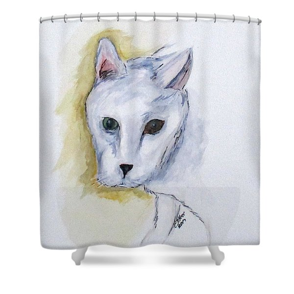 Jade The Cat Shower Curtain