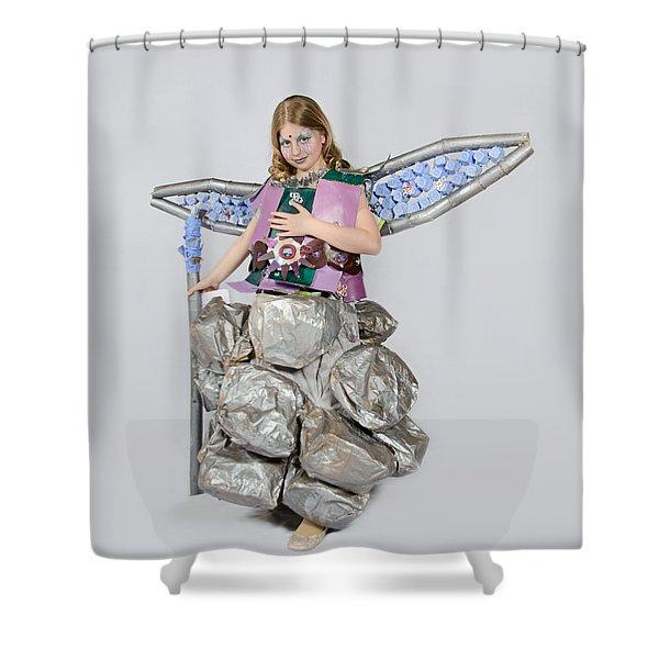 Jaeda In Techno Fairy Shower Curtain