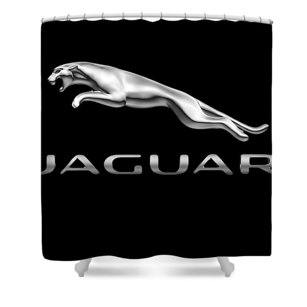 Jaguar Logo Shower Curtain