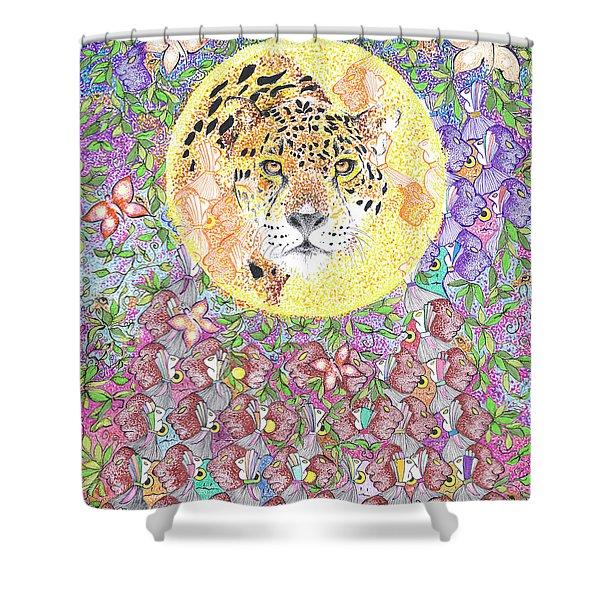 Jaguar Night Shower Curtain