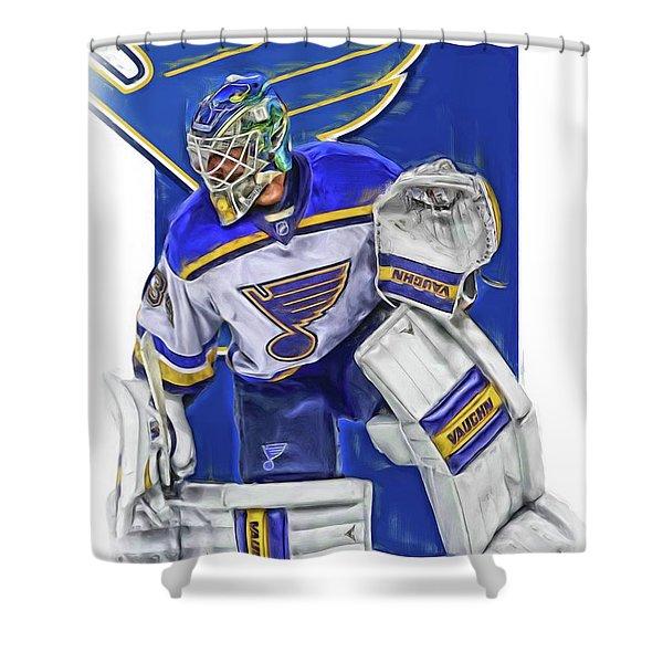 Jake Allen St Louis Blues Oil Art Shower Curtain