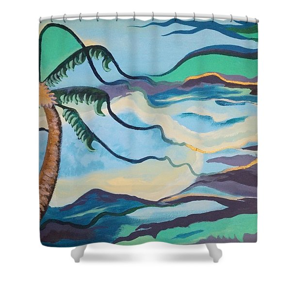 Jamaican Sea Breeze Shower Curtain