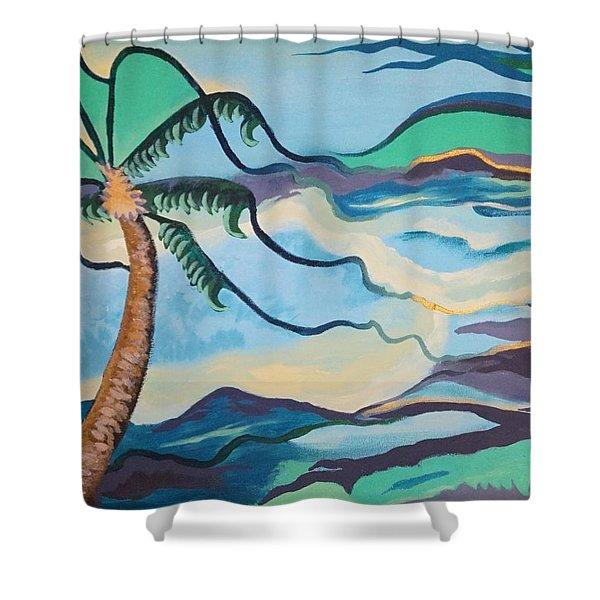 Jamaican Sea Breeze Shower Curtain