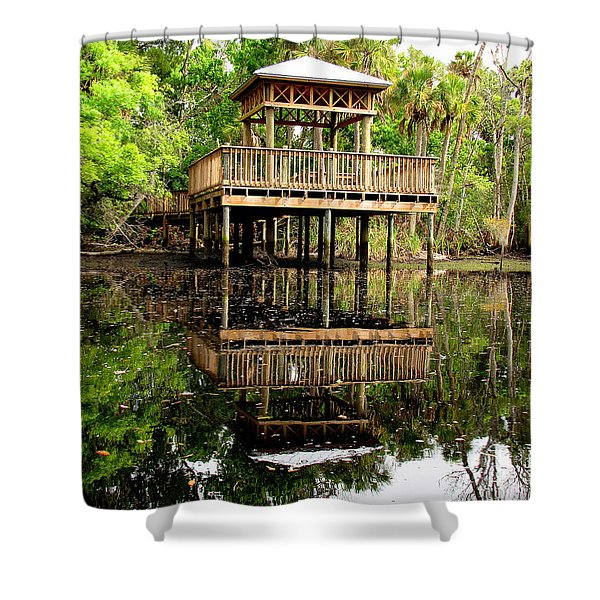 James E Grey Fishing Pier Shower Curtain