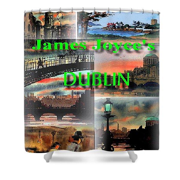 James Joyce's Dublin Shower Curtain