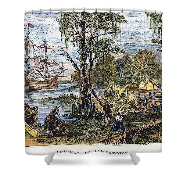 Jamestown: Arrival, 1607 Shower Curtain