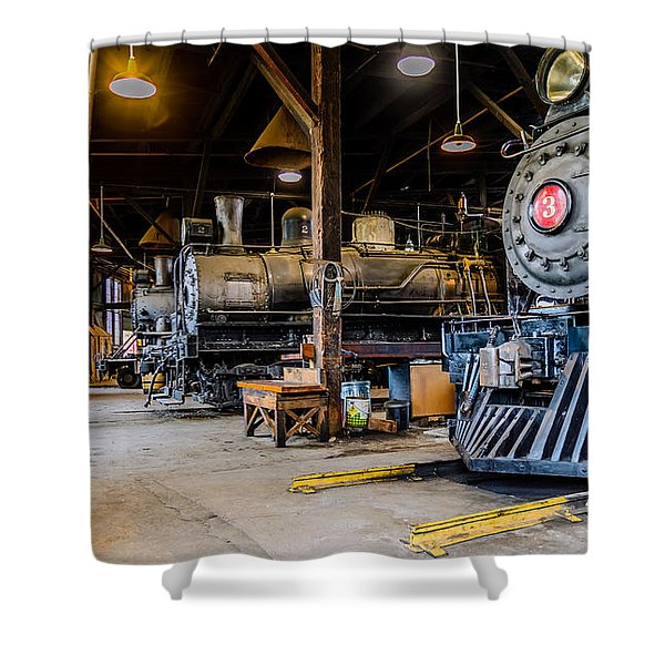 Jamestown Roundhouse Shower Curtain